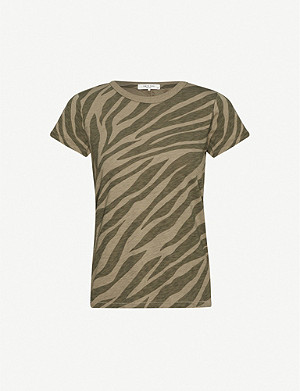 RAG & BONE Zebra-print cotton-jersey T-shirt