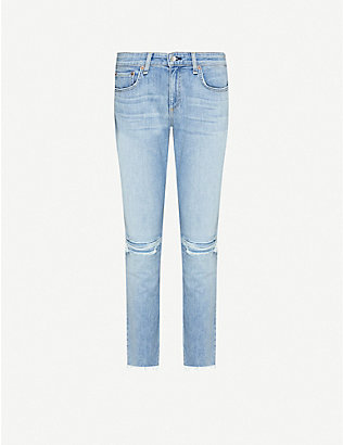 RAG & BONE: Dre slim-fit low-rise boyfriend jeans
