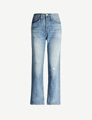 RAG & BONE Maya ripped straight high-rise jeans