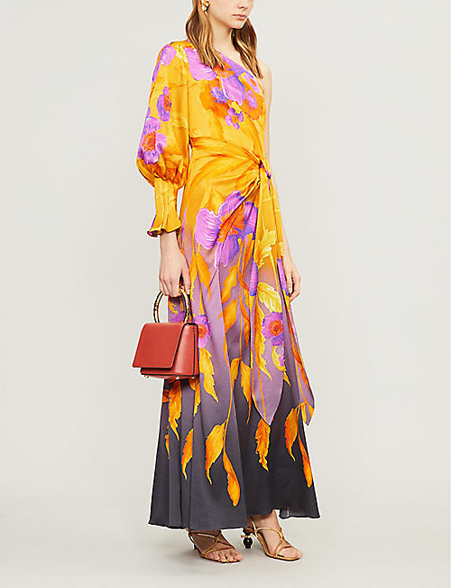 PETER PILOTTO Floral-print fitted silk-blend dress