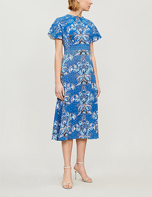 PETER PILOTTO Floral-print cloqué dress