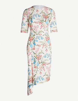 PETER PILOTTO Floral-print cady dress