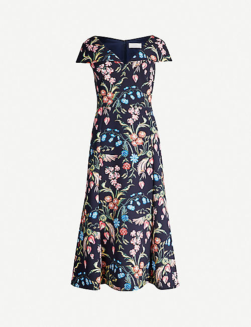 PETER PILOTTO Floral-print stretch-crepe midi dress