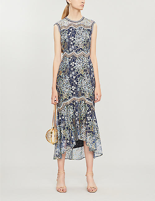 PETER PILOTTO Floral-print sleeveless lace dress