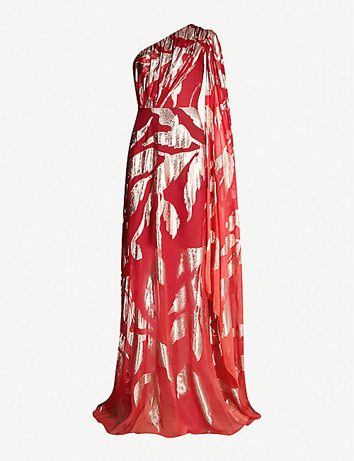 c5028b59fac8c5 PETER PILOTTO Leaf-print silk-blend dress