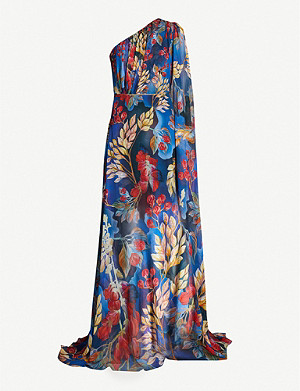 PETER PILOTTO Floral-print silk-crepe gown