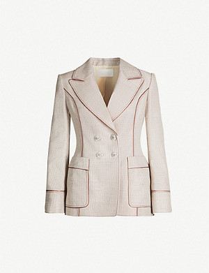 PETER PILOTTO Checked metallic-woven blazer