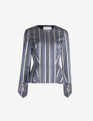 PETER PILOTTO Striped metallic jacquard top