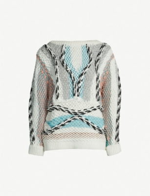 PETER PILOTTO Patchwork cotton-blend jumper
