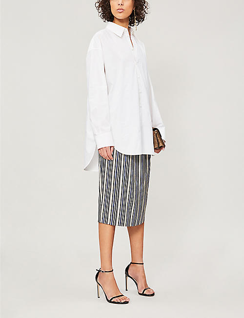 PETER PILOTTO Striped lamé skirt