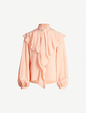 PETER PILOTTO Pussybow ruffle silk-crepe blouse