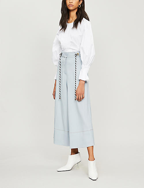 PETER PILOTTO Pleated-panel cotton blouse