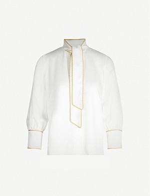 PETER PILOTTO Rope-trimmed long-sleeved woven shirt