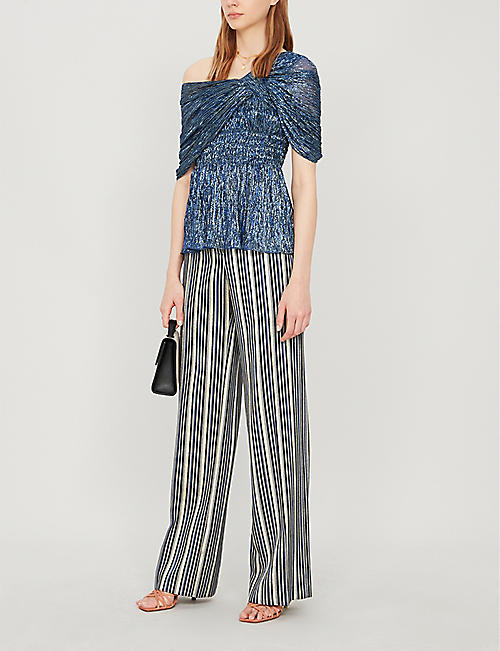 PETER PILOTTO Cold-shoulder lamé top