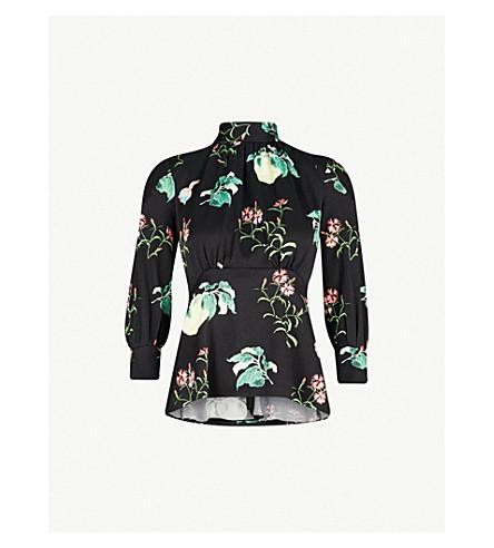 694af28c18fbeb PETER PILOTTO - Floral-print high-neck silk top