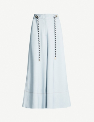 PETER PILOTTO Belted stretch-woven culottes