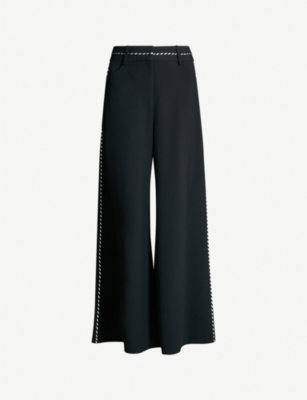 PETER PILOTTO Striped trim crepe culottes