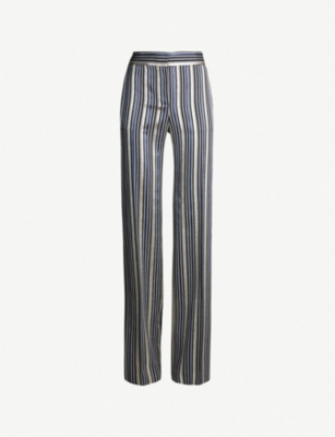 PETER PILOTTO Metallic-striped crepe trousers