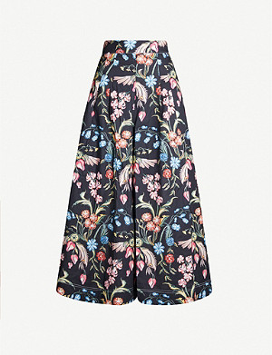 PETER PILOTTO Floral-print wide-leg cotton trousers