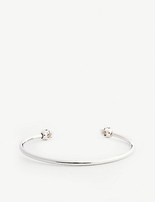 ALEXANDER MCQUEEN: Small twin skull bangle