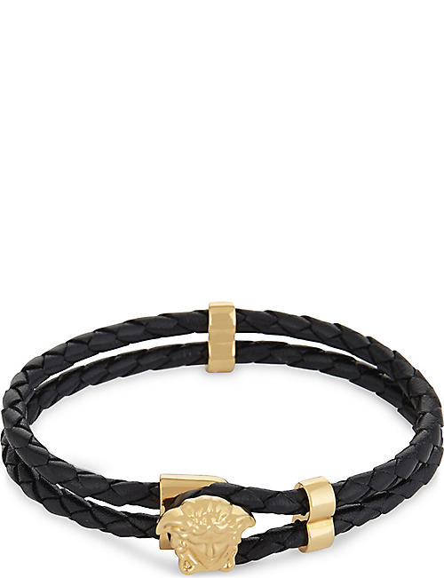 4d983f7e467 VERSACE Medusa leather bracelet