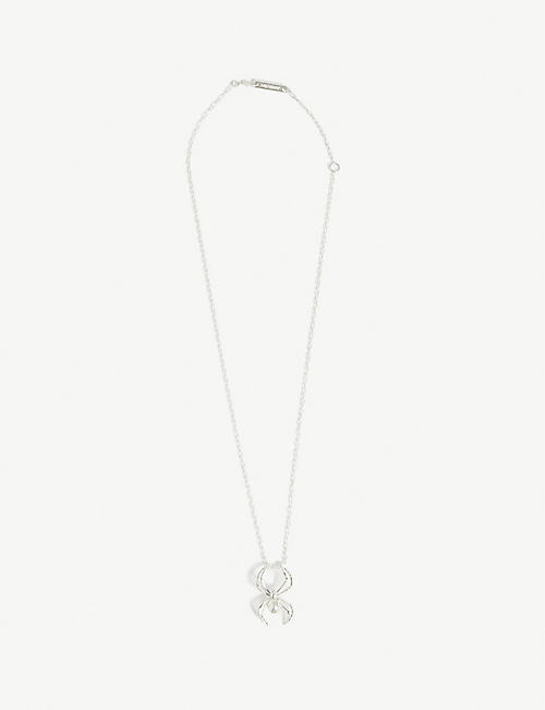 AMBUSH Spider charm sterling silver necklace