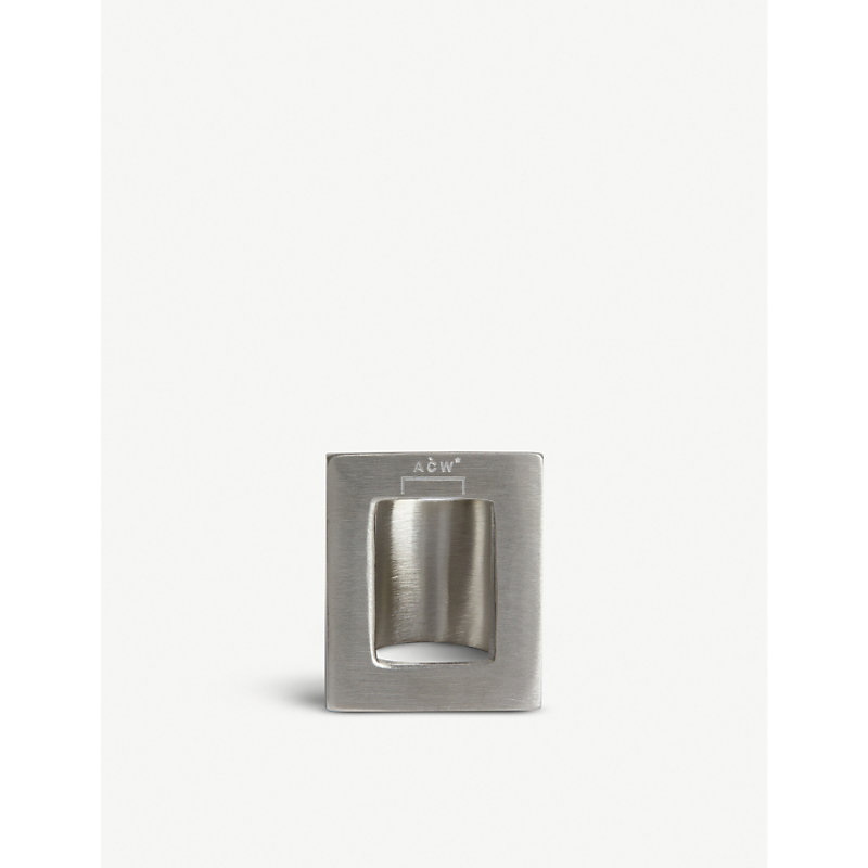 A-Cold-Wall* Accessories NEGATIVE SPACE SILVER PLATED METAL RING