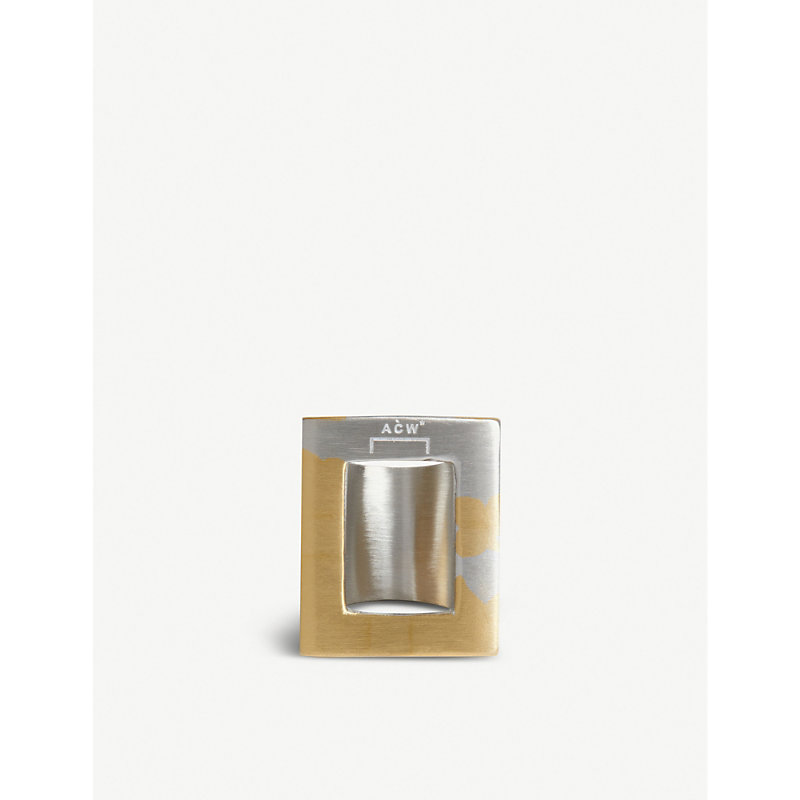 A-Cold-Wall* Accessories NEGATIVE SPACE SILVER AND GOLD-TONE METAL RING