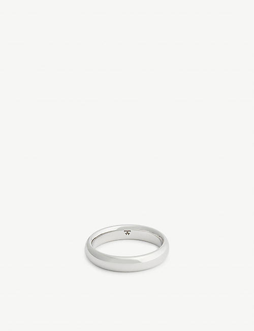 TOM WOOD Classic sterling silver band ring