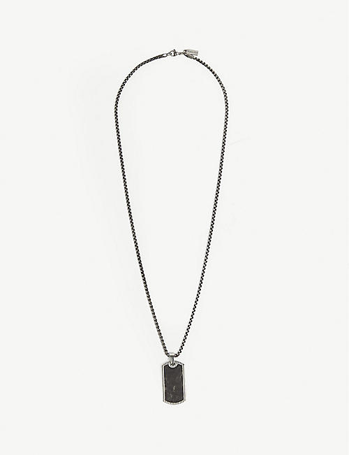 NIALAYA Carbon dog tag necklace