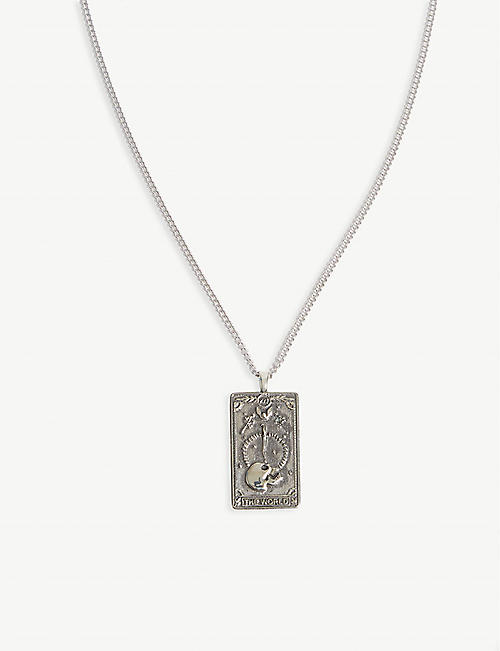 NORTHSKULL Tarot card dog tag necklace