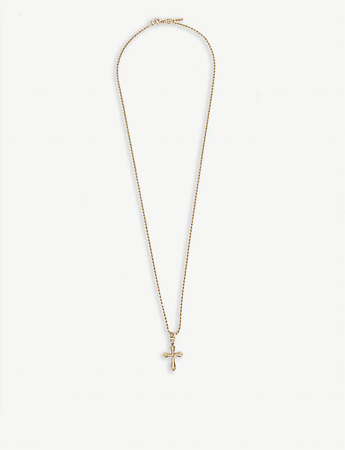EMANUELE BICOCCHI Gold-plated silver cross necklace