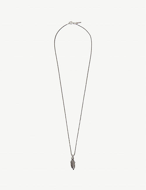 EMANUELE BICOCCHI Sterling silver feather pendant necklace