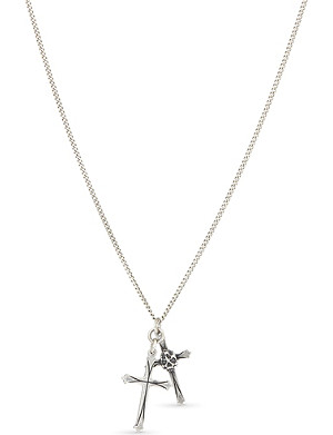 EMANUELE BICOCCHI Double cross sterling silver necklace