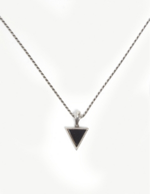 EMANUELE BICOCCHI Silver sterling triangle onyx stone necklace