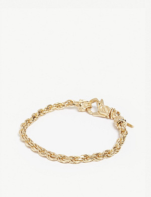 EMANUELE BICOCCHI Gold-plated French rope bracelet