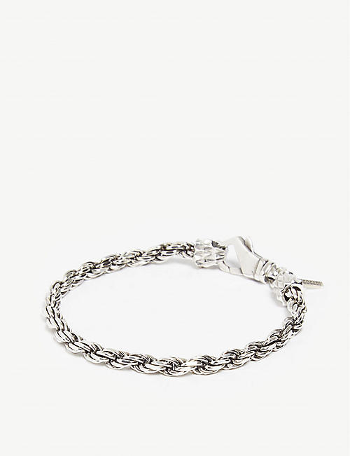 EMANUELE BICOCCHI: Sterling-silver French rope bracelet