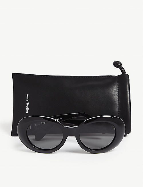 ACNE STUDIOS Mustang oval-frame acetate sunglasses