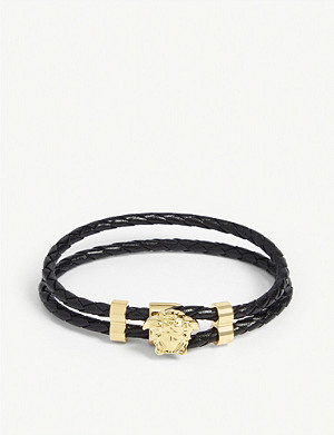 VERSACE Leather wrap bracelet