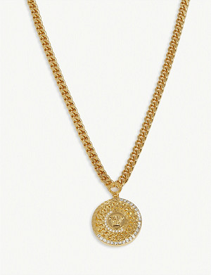 VERSACE Medusa plate necklace