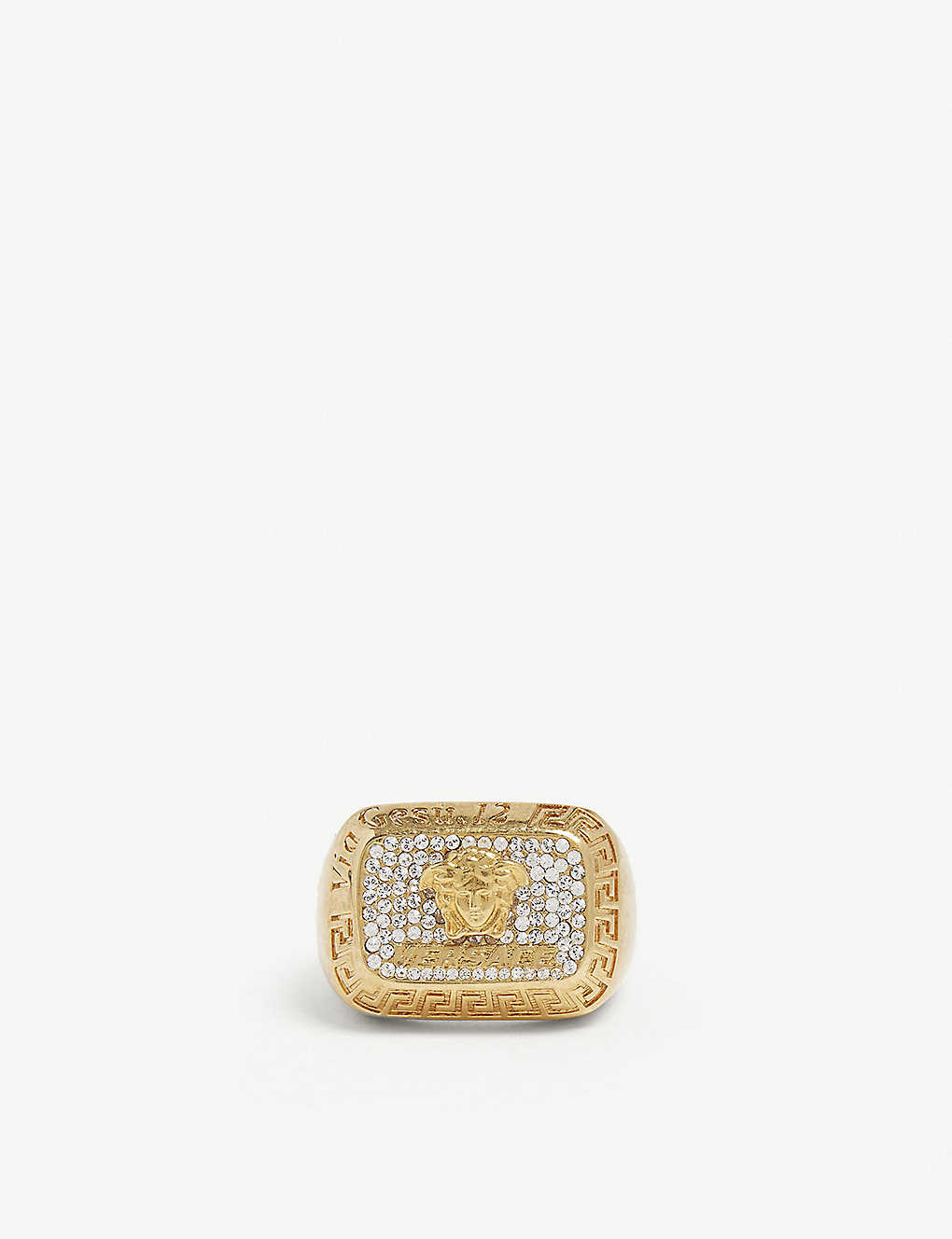 612dd411dd VERSACE - Crystal square ring | Selfridges.com