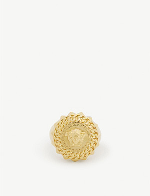 VERSACE Medusa chain metal ring