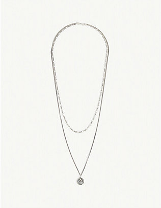 SERGE DENIMES: St. Christopher silver necklace
