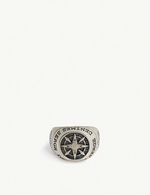 SERGE DENIMES Compass silver ring