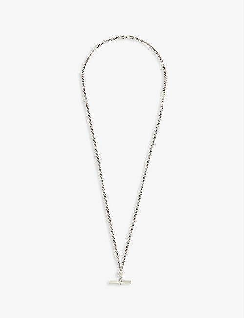 SERGE DENIMES: T-Bar silver necklace
