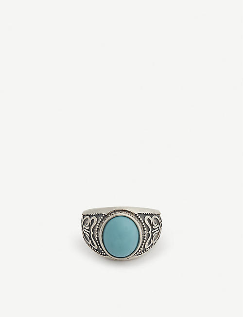 SERGE DENIMES Turquoise silver ring