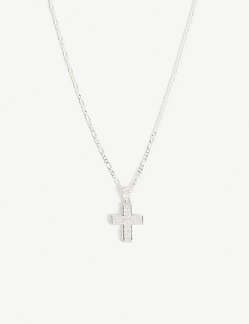 DEADSTOCK JEWELRY Crystal cross necklace