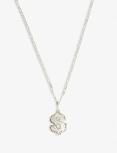DEADSTOCK JEWELRY Dollar sign sterling silver necklace