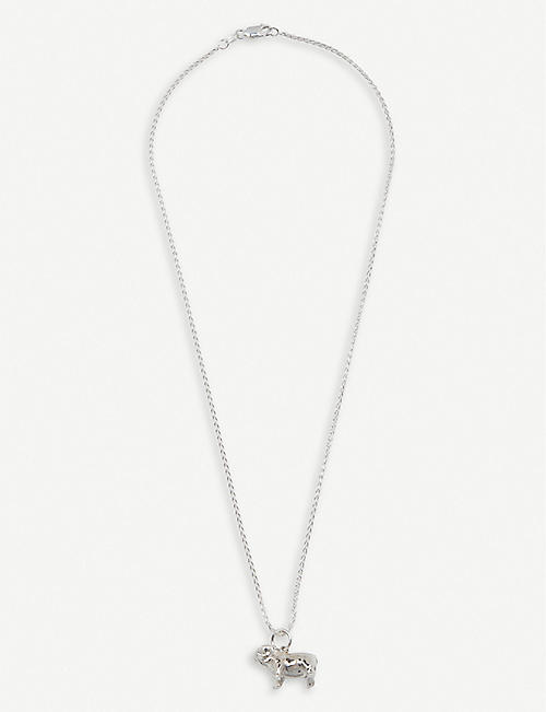 HATTON LABS Bulldog sterling silver chain necklace