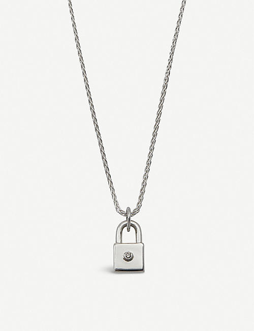 HATTON LABS VS1 diamond and sterling silver padlock necklace
